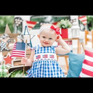 12m smocked flag bubble
